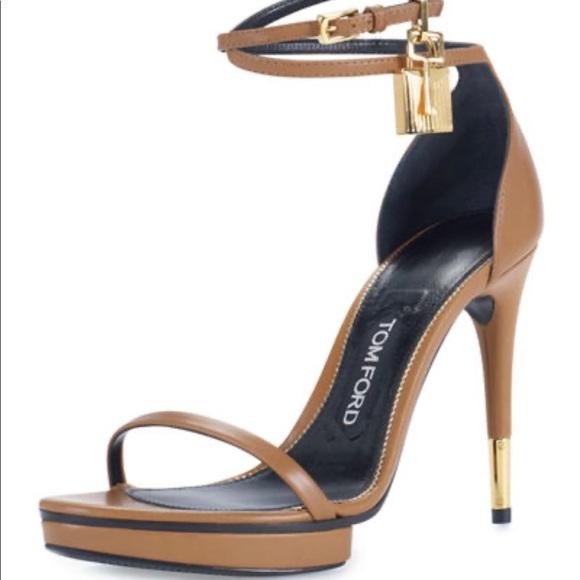 Tom Ford Platform Anklelock Sandal Heel